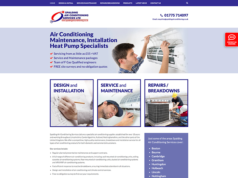 Spalding Air Conditioning launch their new website!